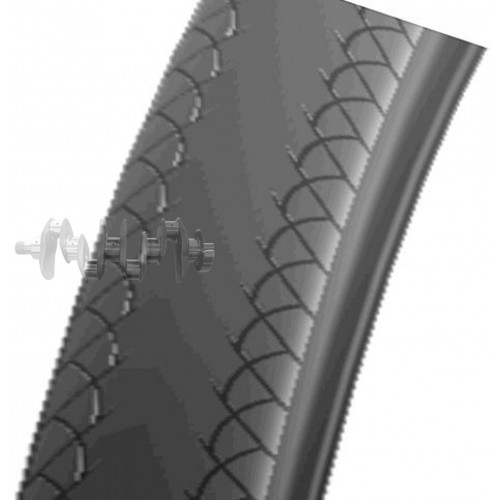 Велосипедная шина   28   (700 * 23C)   (HS-025 Foldable-скрутка)   Swallow-Индонезия   (#LTK)