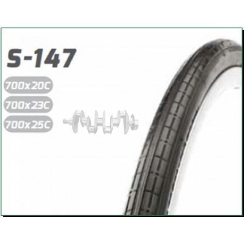 Велосипедная шина   28   (700 * 25C) (25-622)   (S-147 blk/red strip LABEL CARD)   Delitire-Индонези