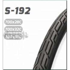 Велосипедная шина   28   (700 * 28C)   (S-192 blk/blue strip LABEL CARD)   Delitire-Индонезия   (#LT