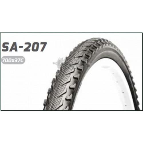 Велосипедная шина   28 * 1,40   (700 * 37C) (37-622)   (S-207 Blue strip)   Delitire-Индонезия   (#L