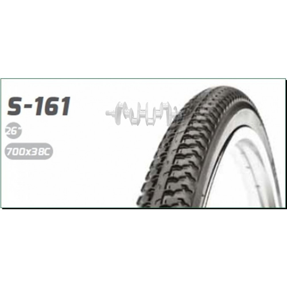 Велосипедная шина   28 * 1,60   (700 * 38C) (40-622)   (S-161 Red strip)   Delitire-Индонезия   (#LT