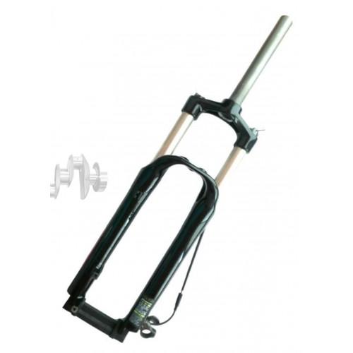 Вилка велосипедная амортизационная безрезьбовая   (26, черная , алюминий, V-Brake)   (MOZO Batman-RL