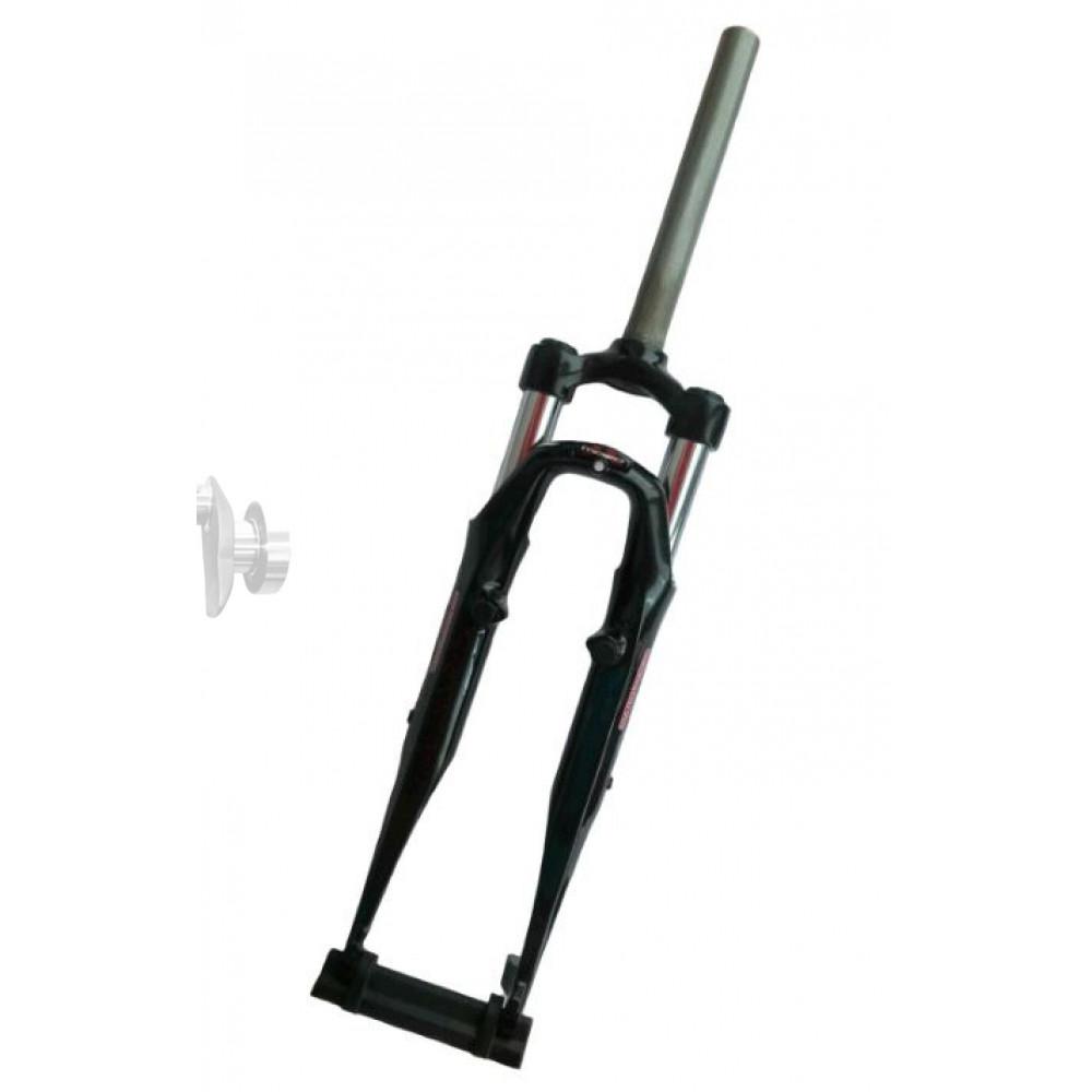 Вилка велосипедная амортизационная безрезьбовая   (26, черная , алюминий, V-Brake)   (MOZO)   (C-710