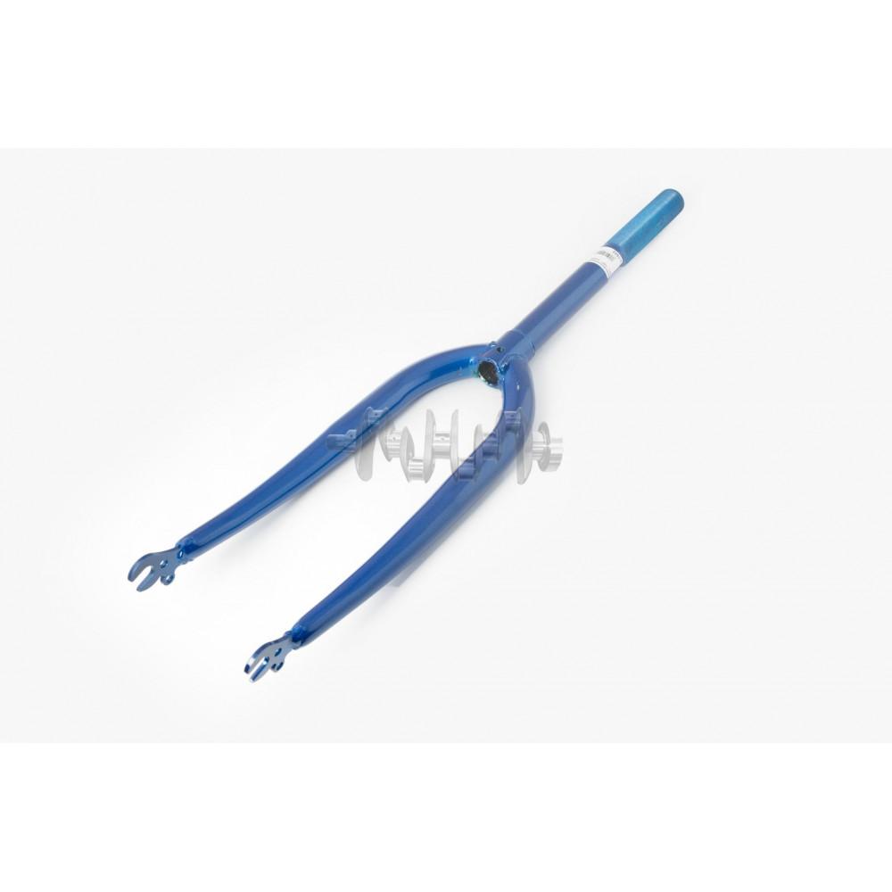 Вилка велосипедная жесткая   (20)   (синяя)   YAT