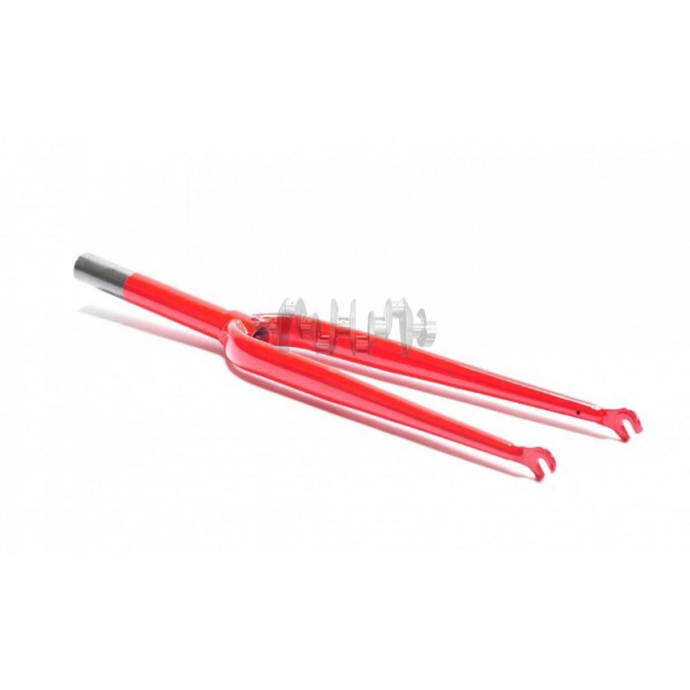 Вилка велосипедная жесткая   (26)   (красная)   KL
