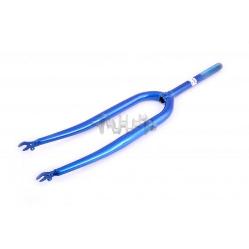 Вилка велосипедная жесткая   (28)   (синяя)   YAT