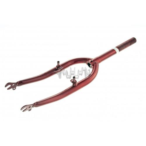 Вилка велосипедная жесткая   (c креплением V-brake, 20)   (красная)   DS