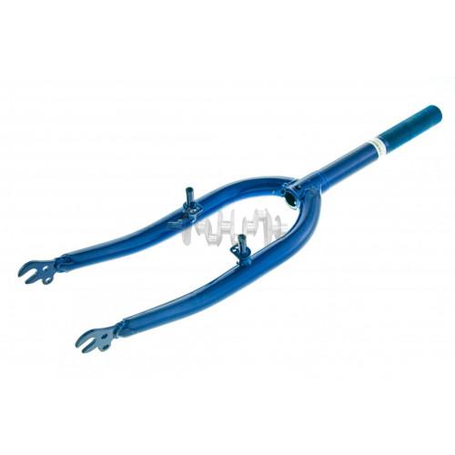 Вилка велосипедная жесткая   (c креплением V-brake, 22)   (синяя)   DS   mod A