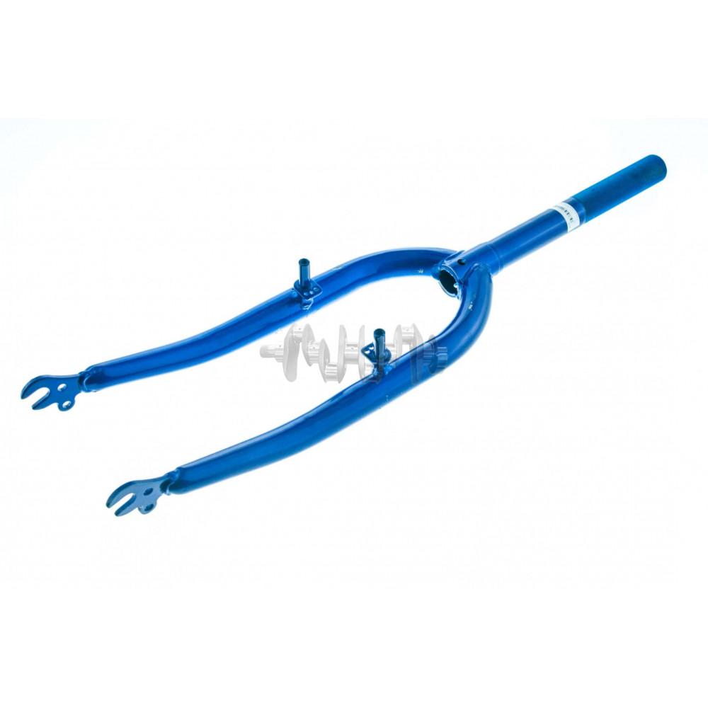 Вилка велосипедная жесткая   (c креплением V-brake, 22)   (синяя)   DS   mod B