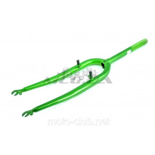 Вилка велосипедная жесткая   (c креплением V-brake, 26)   (зеленая)   DS
