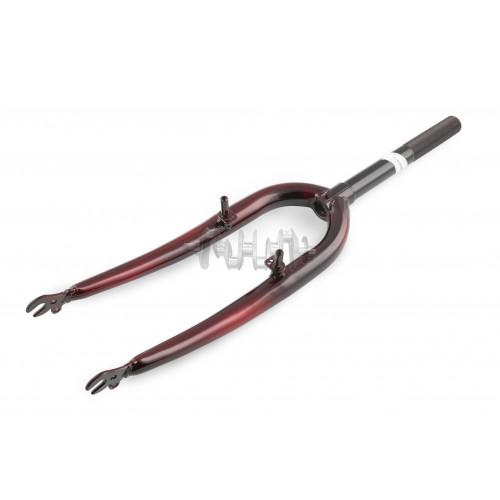 Вилка велосипедная жесткая   (c креплением V-brake, 26)   (черная)   DS