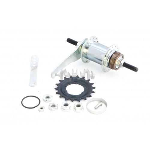 Втулка заднего колеса велосипеда   (36 спиц, ножной тормоз, червячная,+ звезда)    DS