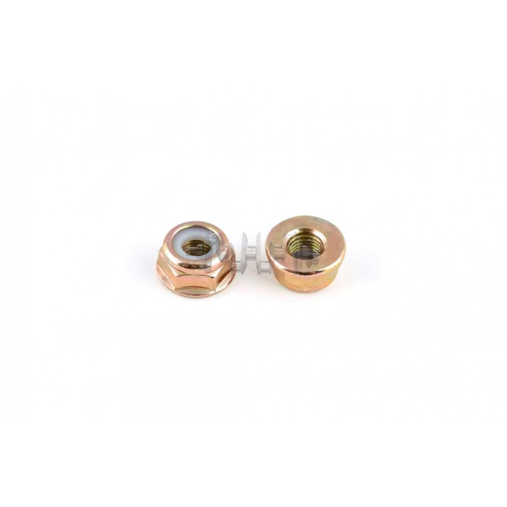 Гайка М10 х 1,25   (редуктора мотокосы с левой резьбой, стопорное кольцо)