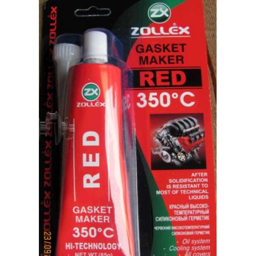 Герметик для прокладок   85г   (красный)   ZOLLEX   (#GRS)