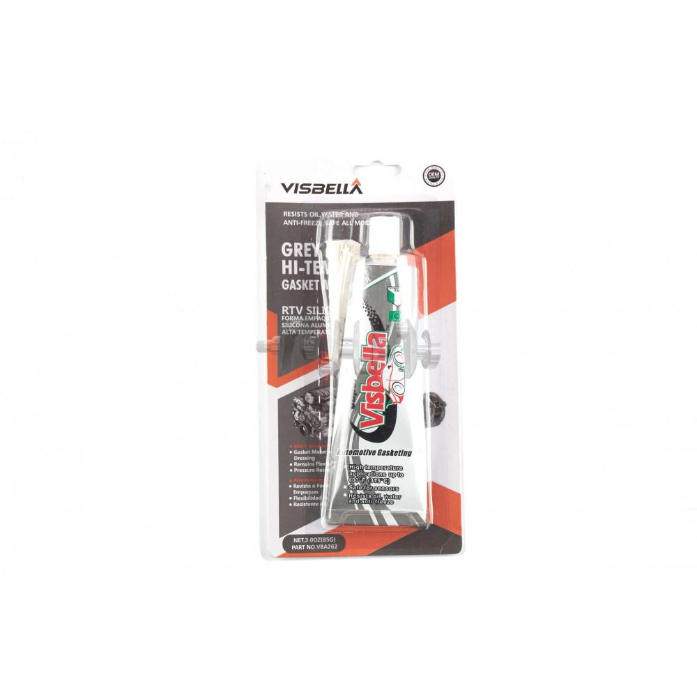 Герметик силиконовый   85мл   (серый)   VISBELLA