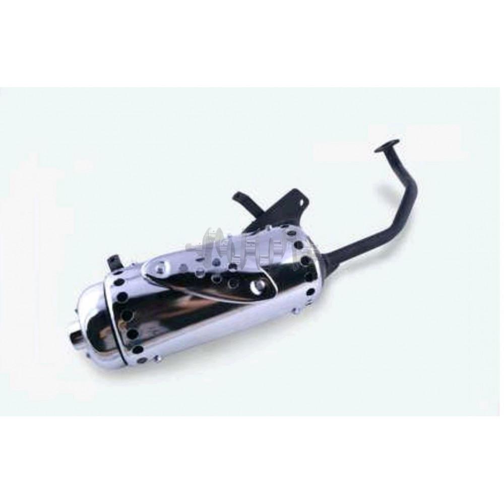Глушитель   4T GY6 125/150   (+колено под 12)   (накладка хром)   ST