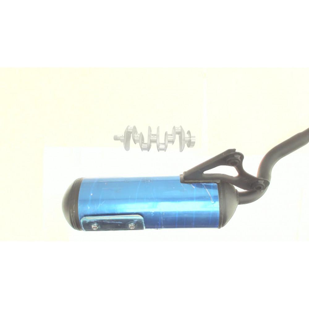 Глушитель   Honda DIO AF34/35   (хромированная накладка)   EVO