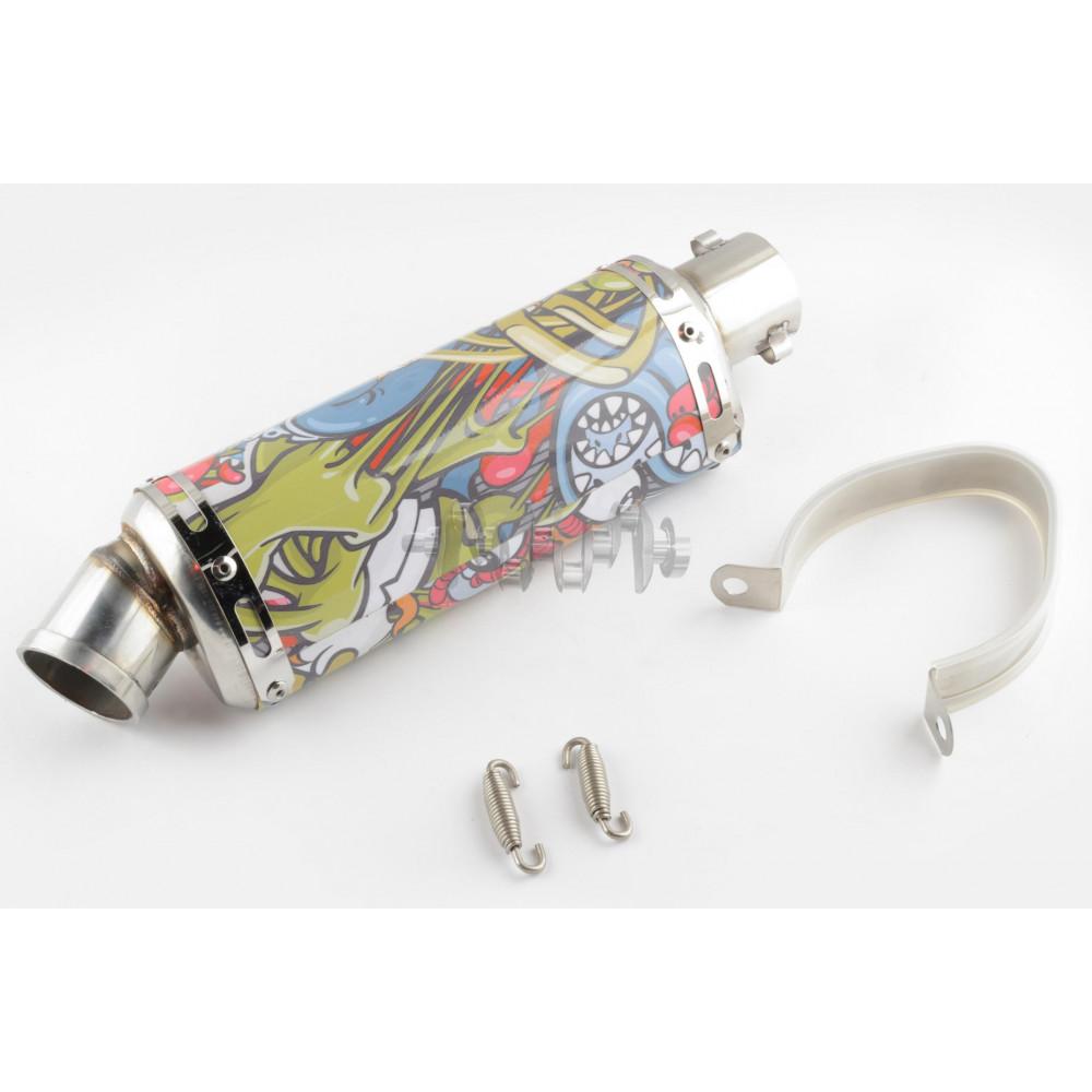 Глушитель (тюнинг)   235*88mm, креп. Ø48mm   (нержавейка, овал, граффити, прямоток)
