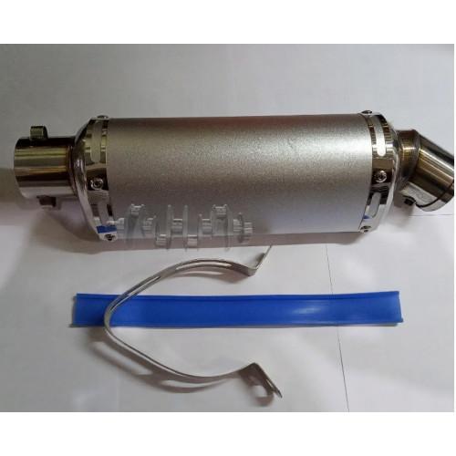 Глушитель (тюнинг)   235*88mm, креп. Ø48mm   (нержавейка, овал, хром, прямоток)