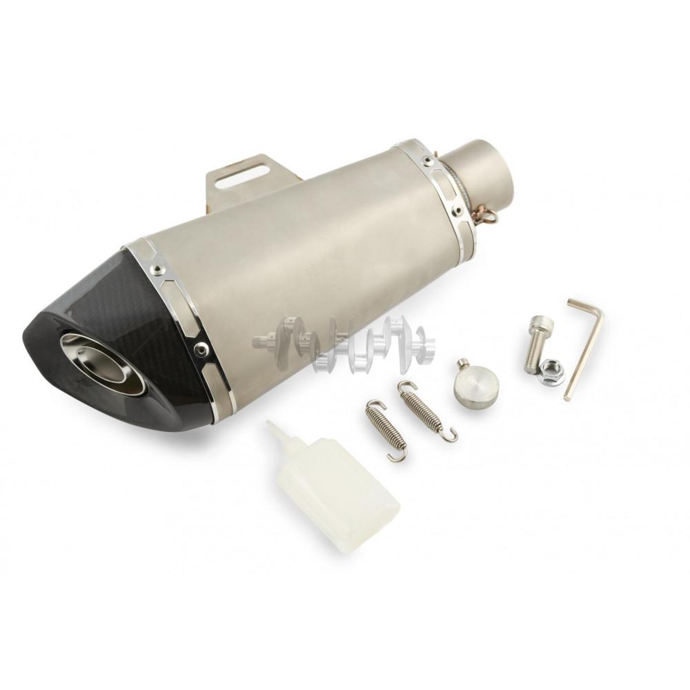 Глушитель (тюнинг)   305mm   (нержавейка, овал, хром, прямоток)   118