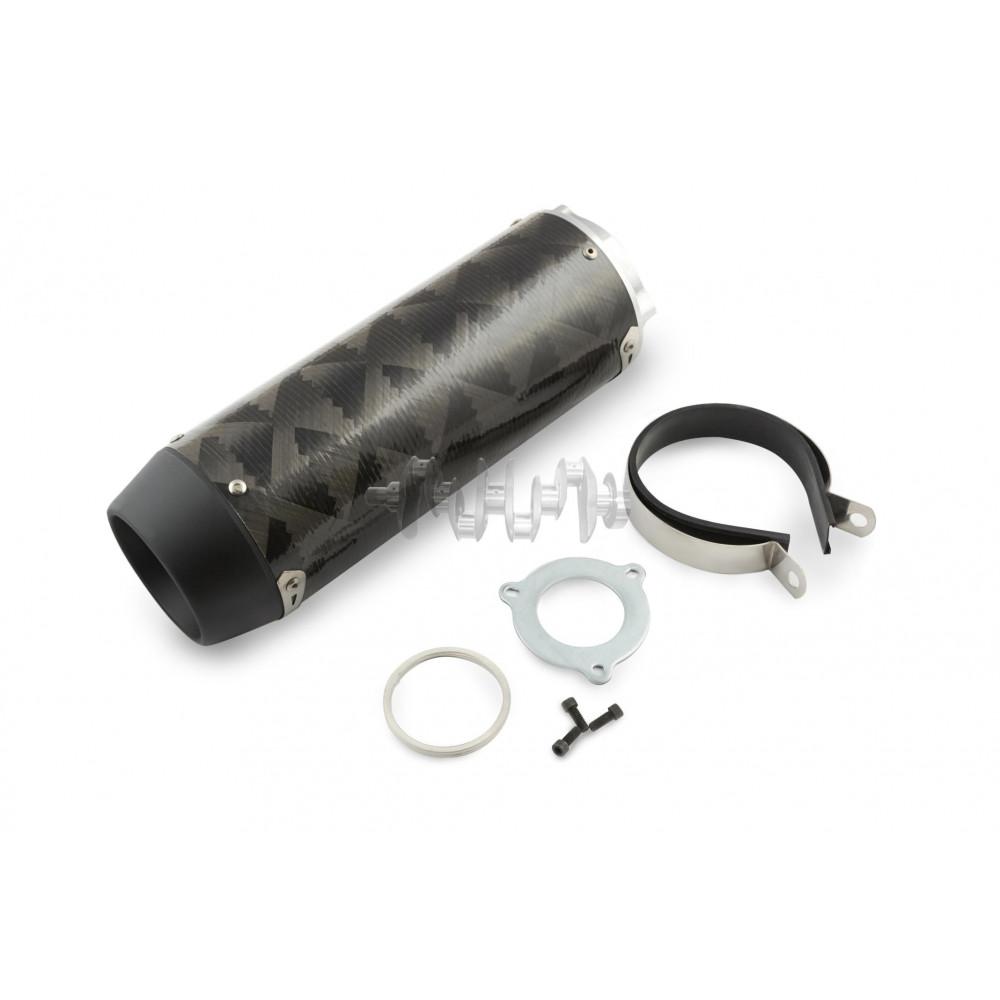 Глушитель (тюнинг)   310mm   (нержавейка, овал, карбон светлый, прямоток) (mod:1)   118