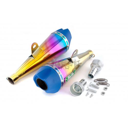 Глушитель (тюнинг)   340mm   (нержавейка, сопло, радуга, прямоток mod:3)   118