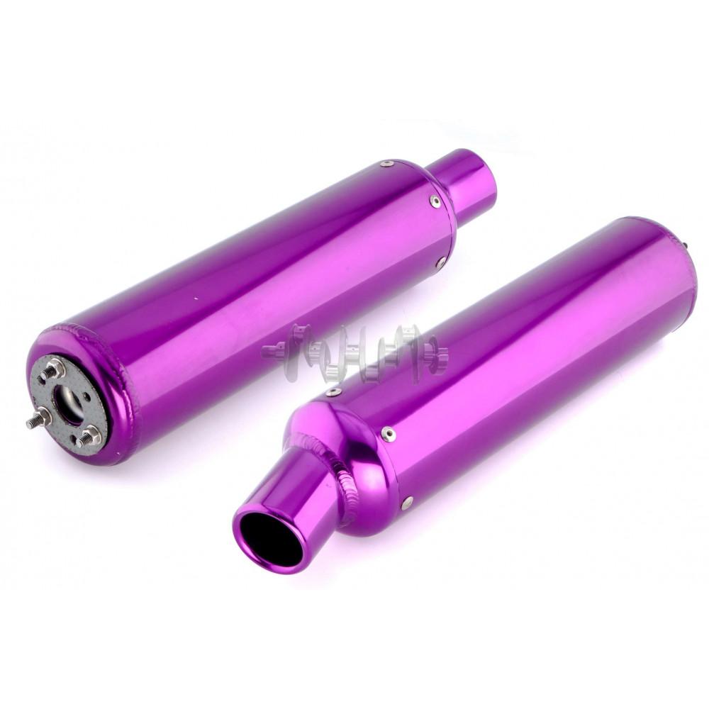 Глушитель (тюнинг)   360*130mm   (нержавейка, овал, фиолетовый, прямоток)   118