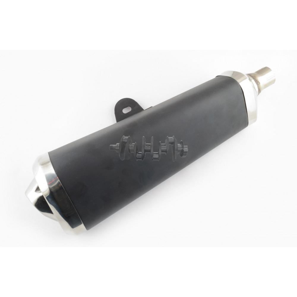Глушитель (тюнинг)   400*100mm, креп. Ø78mm   (три-овал, черный, конус, прямоток)