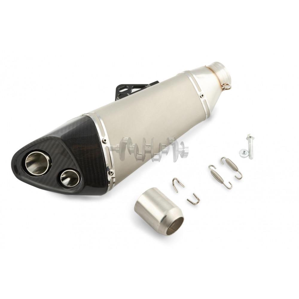 Глушитель (тюнинг)   410*1130mm   (нержавейка, три-овал, серебро, прямоток, mod:7)   118