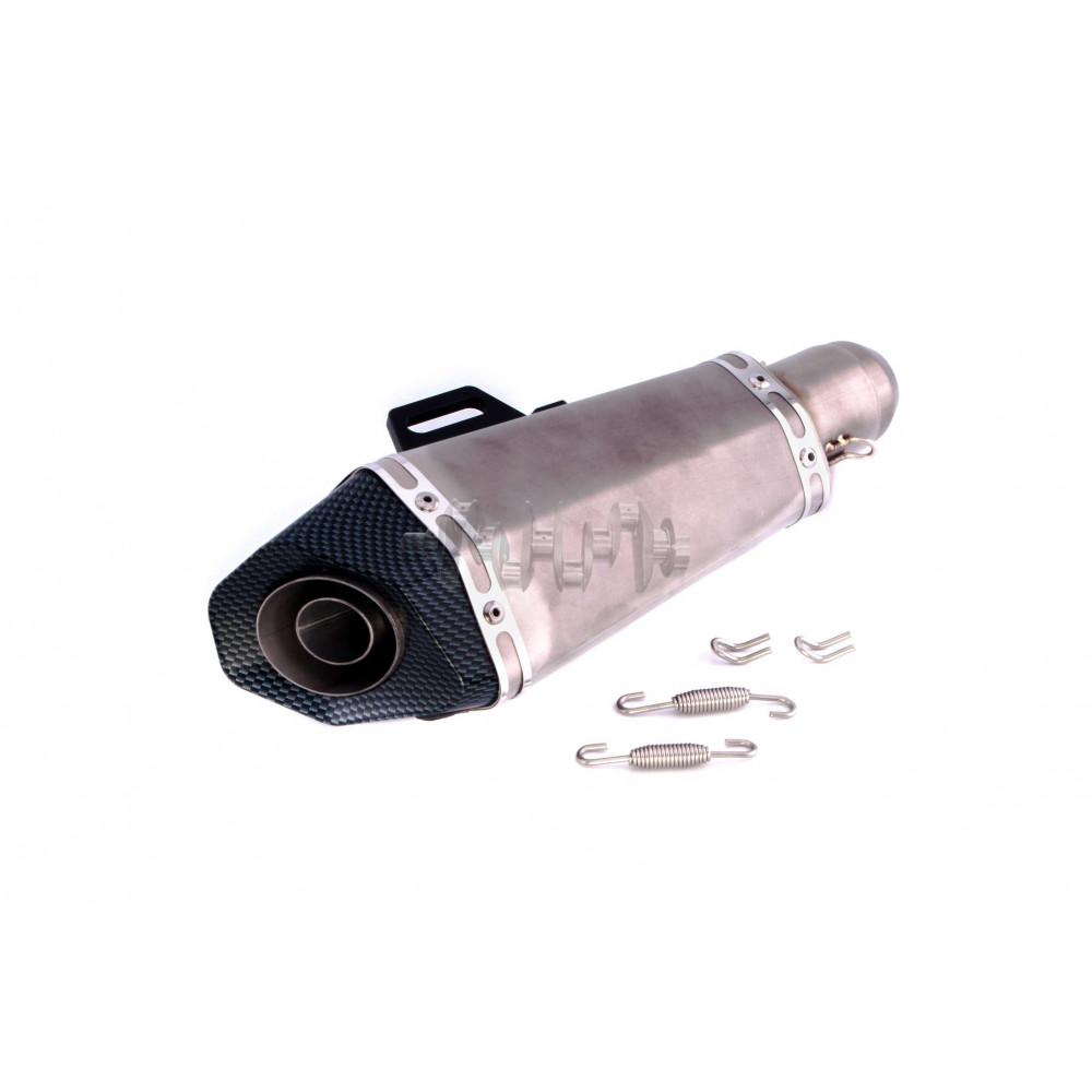 Глушитель (тюнинг)   460*130mm   (нержавейка, овал, прямоток)   118