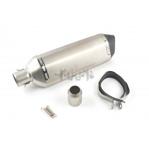 Глушитель (тюнинг)   460*130mm   (нержавейка, овал, серебро, прямоток, mod:3)   118