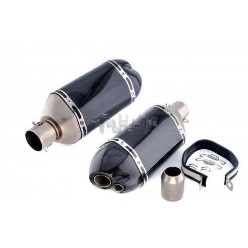 Глушитель (тюнинг)   460*130mm   (нержавейка, три-овал, карбон, прямоток, mod:1)   118