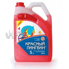 Жидкость для смывания стекол автомобиля 5л.   Красный Пингвин   (ЛЕТО)   (50014)  (#VERYLUBE)