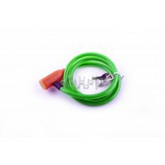 Замок на колесо   (трос 1000*10mm) (с ключом)   (зеленый)   YAT