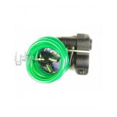 Замок на колесо   (трос 1200*10mm) (с ключом)    (зеленый) 87201   KL