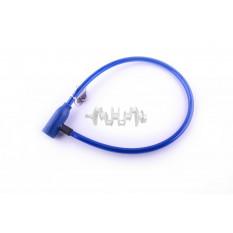 Замок на колесо   (трос 650*10mm) (с ключом)   (синий)   YAT