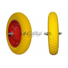 Колесо   3,00 -8   TL   (бескамерное, под ось 12 mm)   (силикон, жёлтое)   ELIT