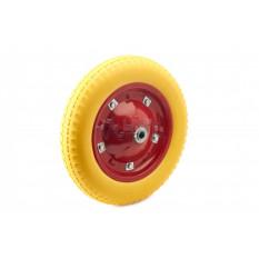 Колесо   3,00 -8   TL   (бескамерное, под ось D-16мм )   (желтое)   MRHD