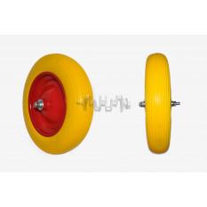 Колесо   3,50 -8   TL   (бескамерное, ось D-12мм )   (силикон, желтое)   ELIT