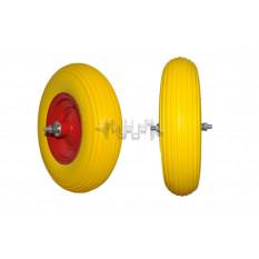 Колесо   4,00 -6   TL   (бескамерное, ось D-12мм )    (силикон, желтое)   ELIT