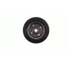 Колесо для тачек и платформ (литая резина)   (180/50- 100mm, под ось 20mm) (1 подшипник, 4 болта)