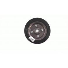 Колесо для тачек и платформ (литая резина)   (180/50- 100mm, под ось 20mm) (2 подшипника)   MRHD