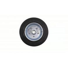 Колесо для тачек и платформ (литая резина)   (200/50- 100mm, игольчатый подшипник)   MRHD