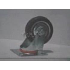Колесо для тачек и платформ (литая резина) (в сборе с креплением, поворотное)   (100mm)   MRHD
