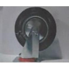 Колесо для тачек и платформ (литая резина) (в сборе с креплением, поворотное)   (200/50-100mm)   MRH
