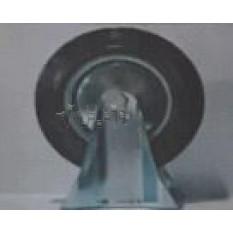 Колесо для тачек и платформ (литая резина) (в сборе с креплением, прямое, без поворота)   (200/50-10