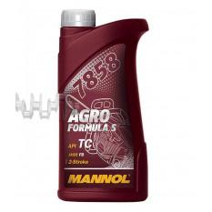 Масло   2T, 1л   (для садовой техники, 7858 Agro Formula S API TC)   MANNOL