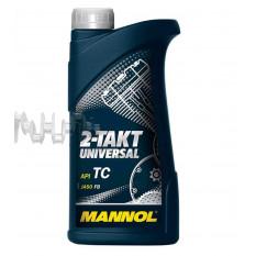 Масло   2T, 1л   (минеральное, 2-Takt Universal API TC)   MANNOL