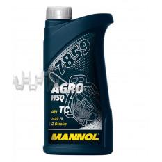 Масло   2T, 1л   (минеральное, для бензопил и мотокос, 7859 Agro HSQ API TC)   MANNOL