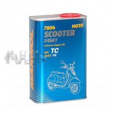 Масло   2T, 1л   (полусинтетика, 7804 Scooter 2-Takt API TC)   MANNOL